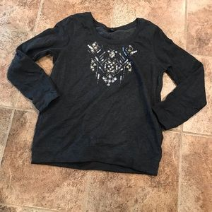 Express Bejeweled Sweatshirt